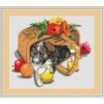 Набор для вышивания Орнамент арт. ДЛ-002 Корзинка 31х27,5