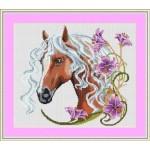 Набор для вышивания Орнамент арт. ДЛ-006 Лошадка с лилиями 30,5х27