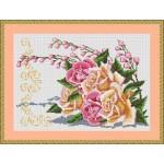 Набор для вышивания Орнамент арт. ВЦ-007 Роза 36х25