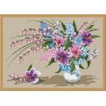 Набор для вышивания Орнамент арт. ВЦ-008 Букет с лилиями 35х25