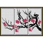 Набор для вышивания Орнамент арт. ВЦ-009 Триптих Сакура 54х36