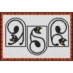 Набор для вышивания Орнамент арт. ВФ-005 Витражные коты 18х30