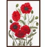 Набор для вышивания Палитра арт.01.003 Луговые маки 24*33 см