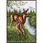 Набор для вышивания Палитра арт.03.005 Олени у ручья 27*39 см