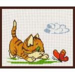 Набор для вышивания Палитра арт.05.001 Катенок с бабочкой 20*15 см