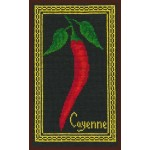 Набор для вышивания Палитра арт.06.002 Кайенский перчик на черном 14*22 см