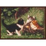 Набор для вышивания Палитра арт.07.001 Котята в корзине 39*27 см