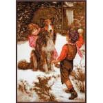 Набор для вышивания Палитра арт.07.002 Первый снег 25*37 см