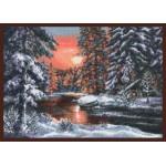 Набор для вышивания Палитра арт.08.001 Зимний вечер 39*28 см