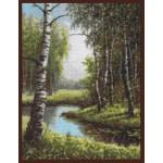 Набор для вышивания Палитра арт.08.002 Березовая роща 31*39 см