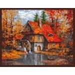 Набор для вышивания Палитра арт.08.003 Водяная мельница 39*30 см