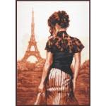 Набор для вышивания Палитра арт.11.002 Прогулка по Парижу 26*36 см