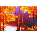 Набор для вышивания РИСУЕМ ИГЛОЙ арт. N0028. Люкс. Осенний вальс (35х45 см)