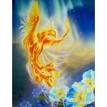 Набор для вышивания РИСУЕМ ИГЛОЙ арт. N0042. Люкс. Песня Огня (35х45 см)