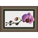 Набор для вышивания Юнона арт.0108 Маленькая орхидея 23,5х14,5см