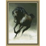 Набор для вышивания Юнона арт.0113 Черный конь 22,5х32см