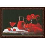 Набор для вышивания Юнона арт.0115 Красный натюрморт 37х24,5см