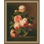 Набор для вышивания Юнона арт.0120 Розы 26х33см