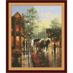 Набор для вышивания Юнона арт.0206 Весенний дождь 30х36,5см