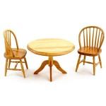Набор мебели арт.AM0102025 обеденный стол и 2 стула дуб
