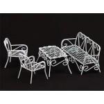 Набор мебели арт. SCB27007 металл белые столик 2 стульчика, диванчик