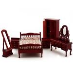 Набор мебели для спальни арт.AM0102037 цв. махагон