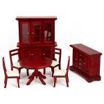 Набор мебели для столовой арт.AM0102038 цв. махагон