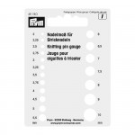 PR.611740 PRYM Трафарет д/измерения размера спиц пластик с отверстием д/подвешивания, цв. белый