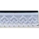 Резинка ажурная 25мм, арт. ТВF-041, цв.белый, упак.50м