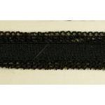 Резинка ажурная арт. 01018 шир.20мм 2-х сторонняя цв.черный