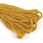 Шнур декоративный 5мм арт.ТВ DR-05 цв.044 оранжевый/золото уп.9м