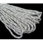 Шнур декоративный 5мм арт.ТВ DR-05 цв.160 св.серый/серебро уп.9м