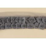 Тесьма арт.TBY-2009 100% полиэстер шир.25мм цв.серый уп.9,14м