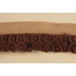 Тесьма арт.TBY-2009 100% полиэстер шир.25мм цв.коричневый уп.9,14м