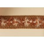 Тесьма арт.ТВД-1021000 D шир.28мм цв.коричневый уп.13,71м