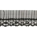 Тесьма рюш арт.TBY CS-12 1-стор. шир.45мм цв.черный уп.13.71м