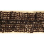 Тесьма-рюш паутинка арт.TBX.#008А двусторонняя на резинке шир.40мм цв.коричневый-золото уп.45,7м