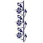 Трафарет с шелковыми вставками арт.IPT-201 Цветок вокруг ветки 12х17см