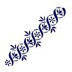 Трафарет с шелковыми вставками арт.IPT-204 Плетеная лилия 9х30см
