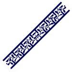 Трафарет с шелковыми вставками арт.IPT-206 Лестница с листочками 9х30см