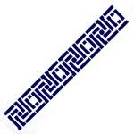 Трафарет с шелковыми вставками арт.IPT-207 Греческий орнамент 9х30см