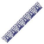 Трафарет с шелковыми вставками арт.IPT-208 Античный орнамент 9х30см