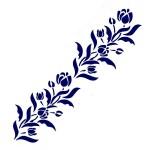 Трафарет с шелковыми вставками арт.IPT-219 Тюльпаны 9х30см