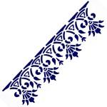 Трафарет с шелковыми вставками арт.IPT-221 Египетский орнамент 9х30см