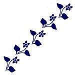 Трафарет с шелковыми вставками арт.IPT-225 Простой цветочек 9х30см