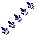 Трафарет с шелковыми вставками арт.IPT-231 Геральдическая лилия 9х30см