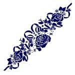 Трафарет с шелковыми вставками арт.IPT-235 Розы с лентами 9х30см