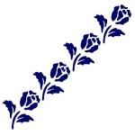 Трафарет с шелковыми вставками арт.IPT-239 Четыре тюльпана 9х30см
