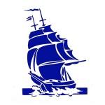 Трафарет с шелковыми вставками арт.IPT-320 Корабль 21х22см