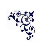 Трафарет с шелковыми вставками арт.IPT-330 Угловой орнамент с лилией 21х22см